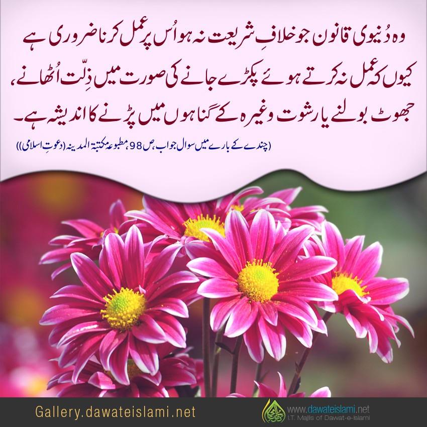wo qanon jo shariat kay khilaf nahi hain on per amal zarori hai