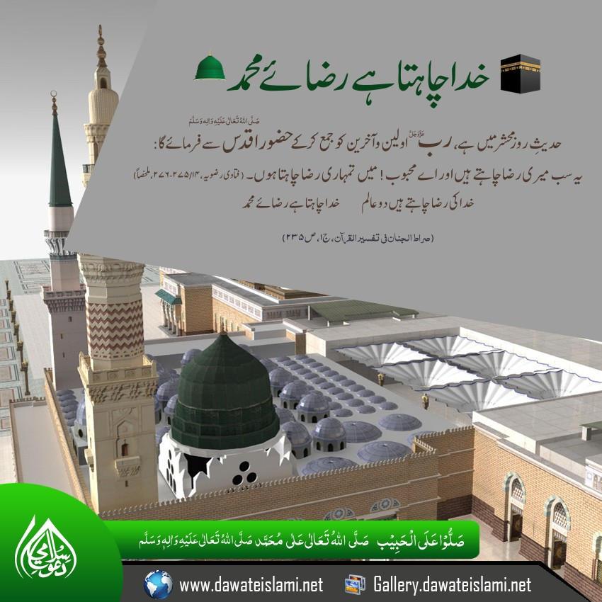Khuda chahta hai raza e Muhammad ﷺ