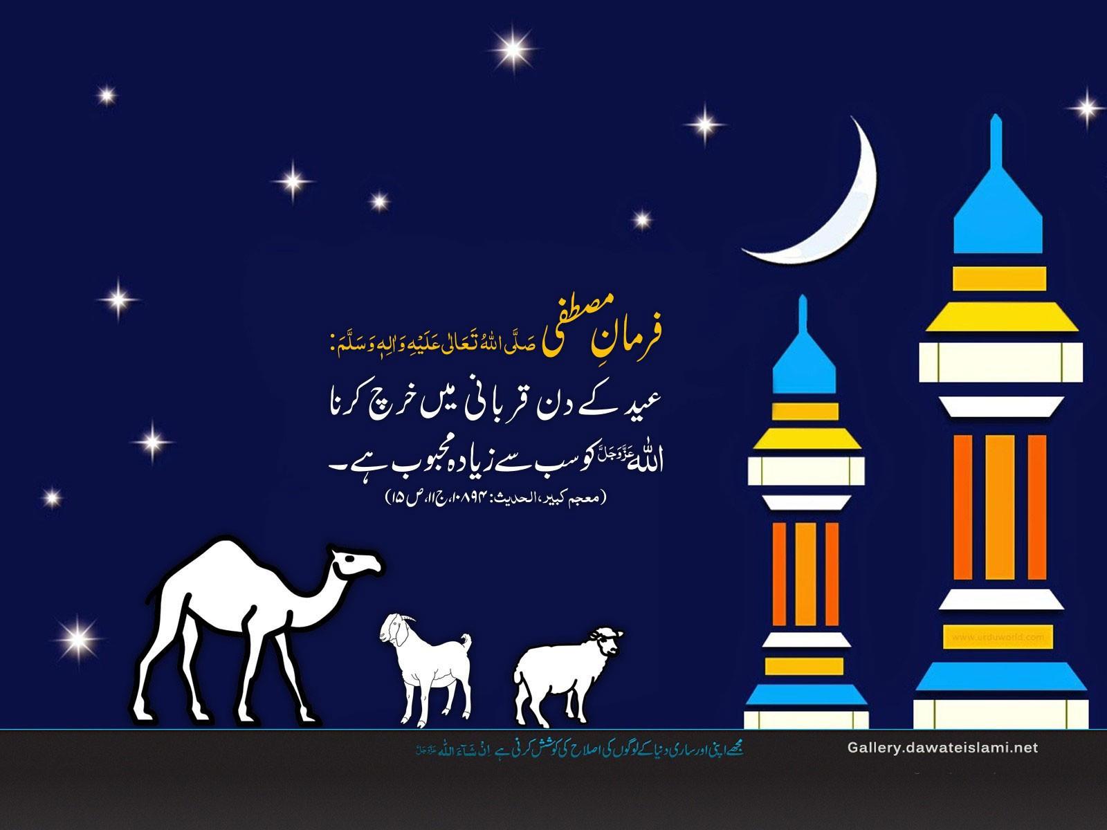 Eid Kay Din Qurbani Main Kharch Karna Wallpaper
