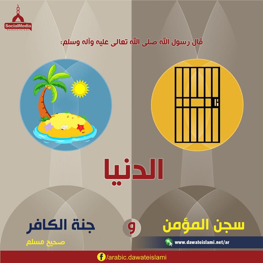 الدنيا سجن المؤمن وجنة الكافر