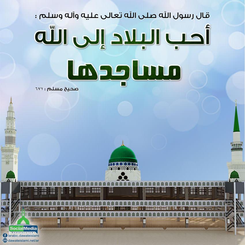 أحسن البقاع إلى الله المساجد