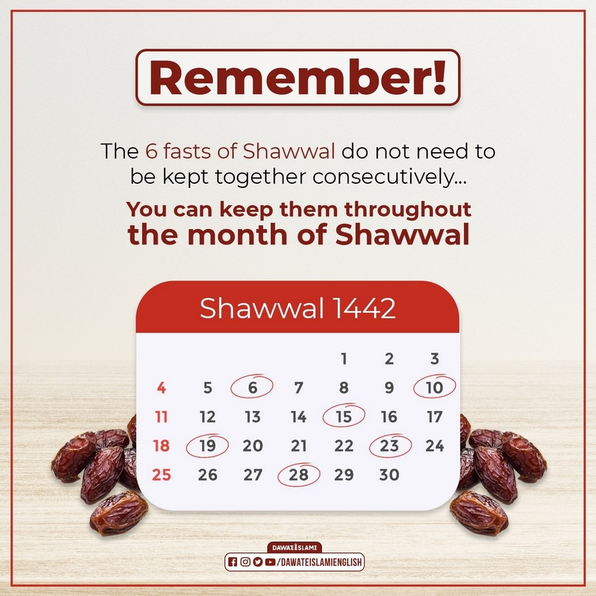 The 6 Fasts of Shawwal