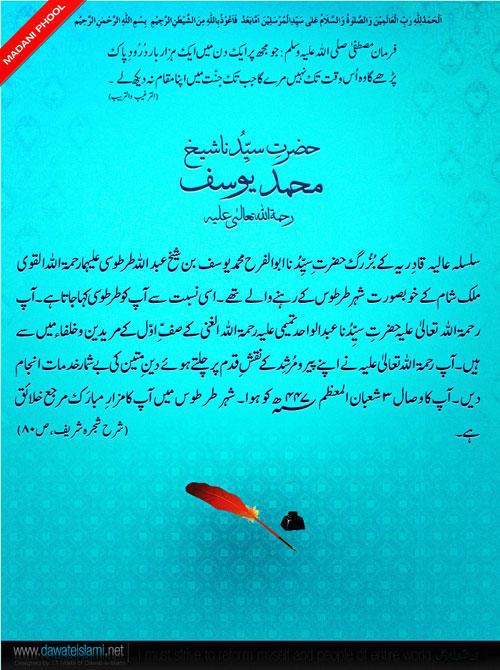 Hazrat-e-Sayyeduna Sheikh Muhammad Yousuf
