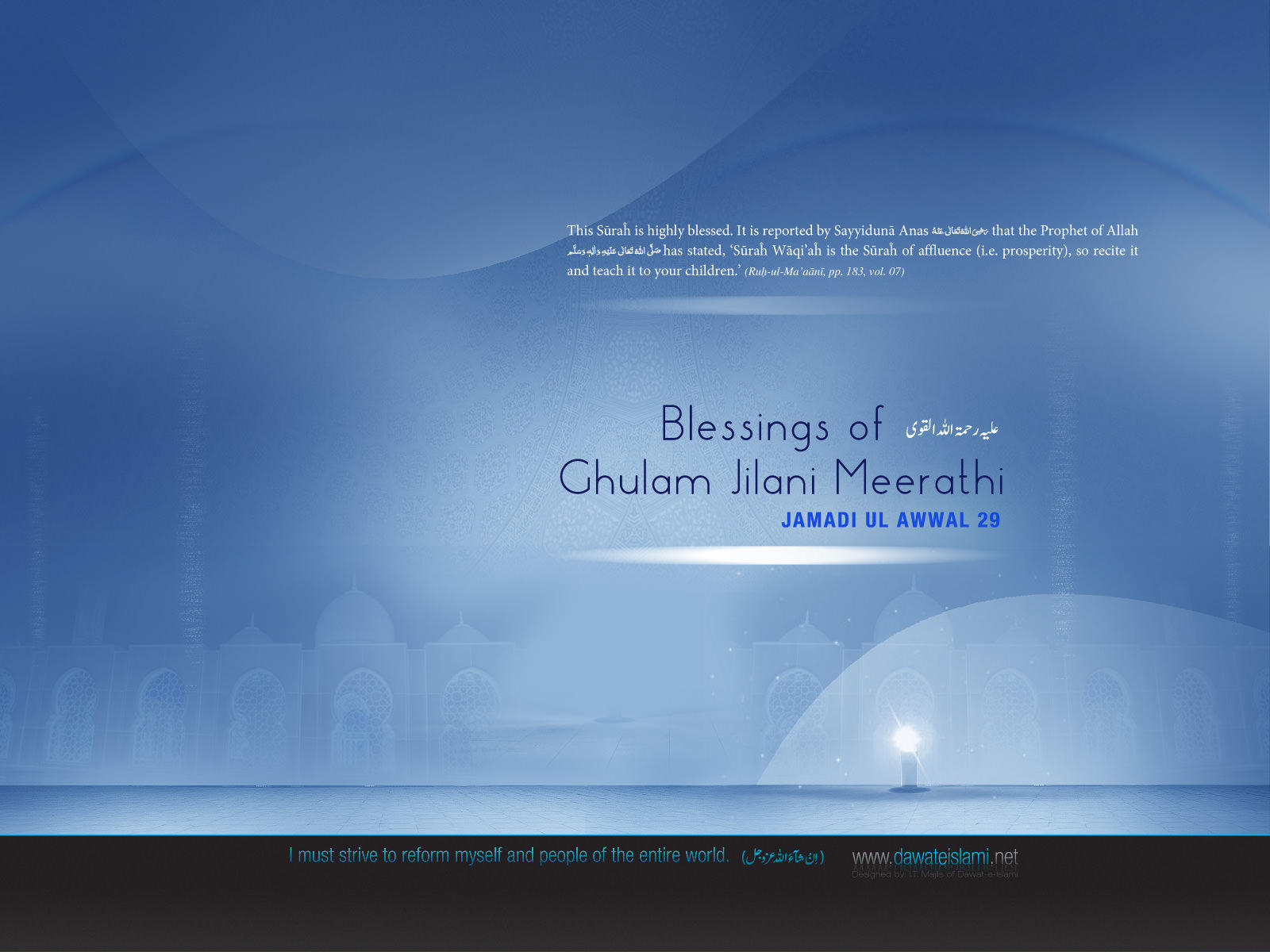 Wallpaper Blessings Of Ghulam Jilani Meerathi