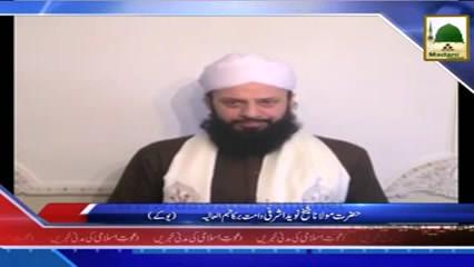 News Clip-12 Nov - Hazrat Shaikh Naveed Ashrafi دامت برکاتہم العالیہ