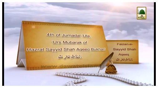 Documentary - Blessings Of Sayyid Shah Aqeeq رحمۃ اللہ علیہ