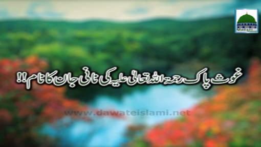 Ghous e Pak Ki Nani Jaan Ka Naam