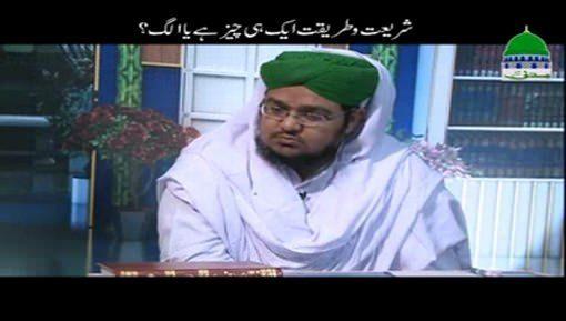 Shariat Aur Tariqat Aik Hi Cheez Hai Ya Alag?