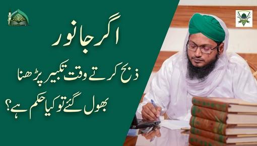Qurbani Kartay Waqt بسم اللہ Parhna Bhool Gaya Tu Kia Hukm Hai?