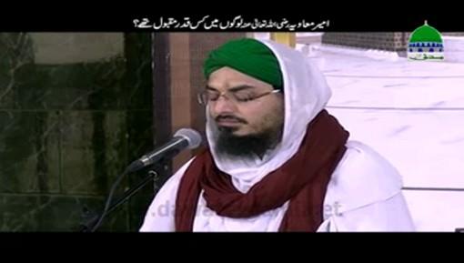 Ameer e Muawia رضی اللہ تعالٰی عنہ Logon Main Kis Qadar Maqbool Thay