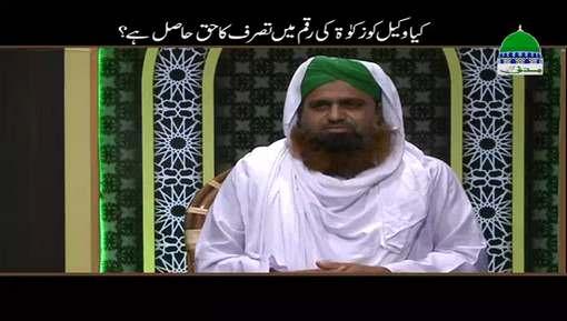 Kia Wakeel Ko Zakat Ki Raqam Main Tasarruf Ka Haq Hasil Hai?