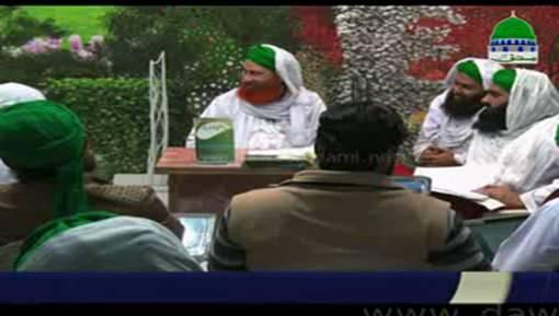 نگرانِ پاکستان انتظامی کابینہ حاجی شاہد عطاری کا مجلس مدرسۃ المدینہ سے مدنی مشورہ