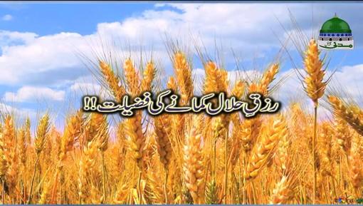 Rizq e Halal Kamanay Ki Fazilat