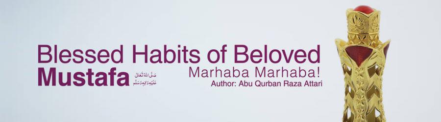 Blessed Habits of Beloved Mustafa صلی اللہ تعالی علیہ والہ وسلم