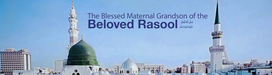 The blessed Maternal Grandson of the Beloved Rasool
