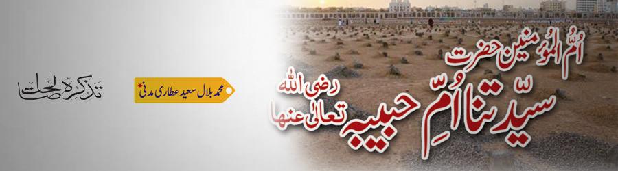 امّ المؤمنین حضرت سیّدتنا امِّ حبیبہ رضی اللہ تعالٰی عنہا