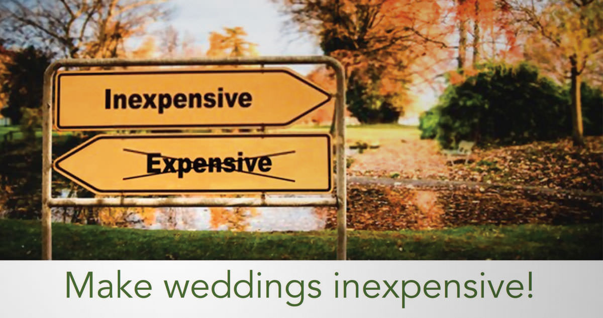 Mutual understanding / Make weddings inexpensive!