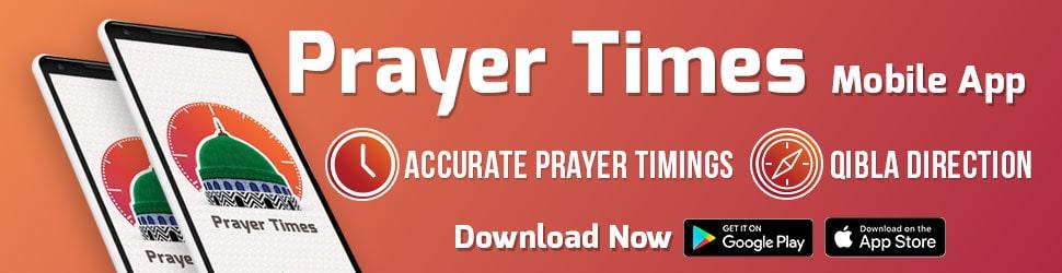 Prayer Times Mobile App