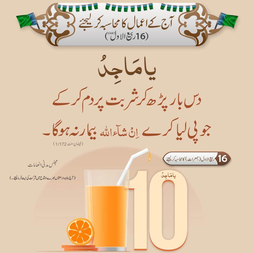Daily Fikr e Madina 16 Rabi Awwal 1441