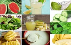 Summer Food Items with Cool Effectiveness